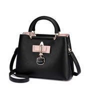 JUST STAR PU 2017 Winter Travelling Handbag Black