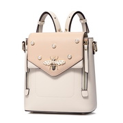 JUST STAR PU 2018 New Sweet Bee Pearl Elements Backpack Apricot
