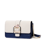 JUST STAR PU 2018 New Year Hot Shoulder Bag Blue