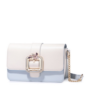 JUST STAR PU 2018 New Year Hot Shoulder Bag Sky Blue
