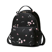 JUST STAR PU 2018 New Beautiful Flower Backpack Black L