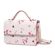 JUST STAR PU 2018 New Beautiful Flower Shoulder Bag Pink L