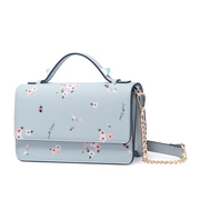 JUST STAR PU 2018 New Beautiful Flower Shoulder Bag Blue
