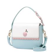 JUST STAR PU 2018 New Lovely Cherry Shoulder Bag Blue