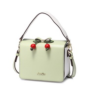 JUST STAR PU 2018 New Lovely Cute Cherry Shoulder Bag Green