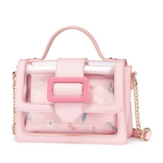 JUST STAR PU 2018 New Popular Jelly Bag Pink