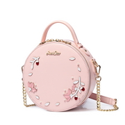 JUST STAR PU 2018 Hot Selling Round Bag Pink