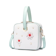 JUST STRA PU 2018 New Clean Style Flower Shoulder Bag White