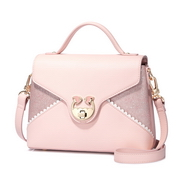 JUST STAR PU 2018 New Lace Shoulder Bag Pink
