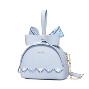 JUST STAR PU 2018 New Cute Bowknot Handbag Blue