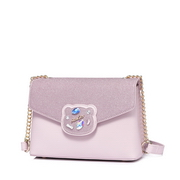 JUST STAR PU 2018 Lovely Bear Shoulder Bag Pink