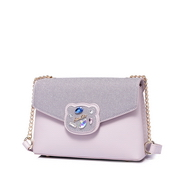 JUST STAR PU 2018 Lovely Bear Shoulder Bag Purple