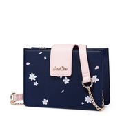 JUST STAR PU 2018 New Beautiful Sakura Cube Bag Blue