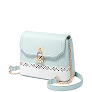 JUST STAR PU 2018 New Hollow Design Crossbody Bag Blue