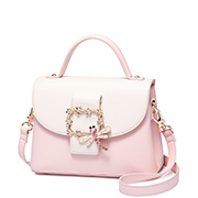 JUST STAR PU 2018 New Delicate Handbag Pink