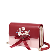 JUST STAR PU 2018 New Romantic Ribbon Girls Shoulder Bag Red