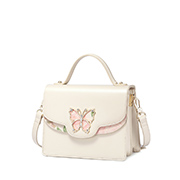 JUST STAR PU 2018 New Butterfly Shoulder Bag White