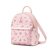 JUST STAR PU 2018 New Active Girls Flamingo Printing Backpack Pink