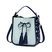 JUST STAR PU 2018 New Stylish Bucket Bag Blue