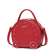 JUST STAR 2018 New Modern Metalic Style Round Bag Red