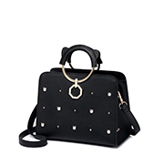 JUST STAR PU 2018 New Funny Handbag Black