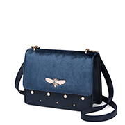 JUST STAR PU 2018 Velvet Style Shoulder Bag Blue