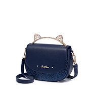 JUST STAR PU 2018 New Funny Shoulder Bag Blue