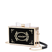 JUST STAR PU 2018 Hot Selling Evening Bag Black