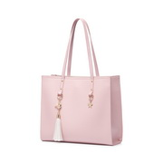 JUST STAR PU 2019 New Large Capacity Tote Bag Pink
