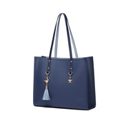 JUST STAR PU 2019 New Large Capacity Tote Bag Blue