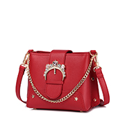 JUST STAR PU 2018 New Korea Style Shoulder Bag Red