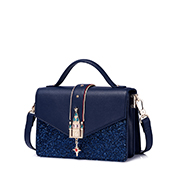 JUST STAR PU 2018 New Fashion Korea Style Shoulder Bag Blue