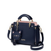 JUST STAR PU 2018 New Fashion Bear Handbag Blue