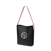 JUST STAR PU 2018 New Large Capacity Tote Bag Black