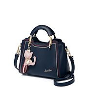 JUST STAR PU 2018 New Winter Cute Cat Handbag Blue