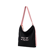 JUST STAR 2018 New Stylish Sweet Canvas Tote Bag Black