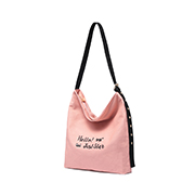 JUST STAR 2018 New Stylish Sweet Canvas Tote Bag Pink