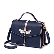 JUST STAR PU 2018 New Fashion Girls Shoulder Bag Blue