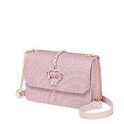 JUST STAR 2018 New Year Series Shiny Sweet Shoulder Bag Pink