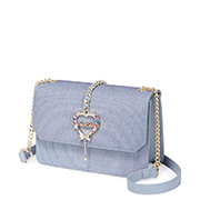 JUST STAR 2018 New Year Series Shiny Sweet Shoulder Bag Blue