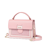 JUST STAR PU 2019 New Lovely Cute Cat Bag Pink