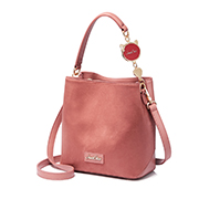 JUST STAR 2018 New Fashion Korean Frosted Bucket Bag Pink