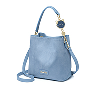 JUST STAR 2019 New Fashion Korean Frosted Bucket Bag Blue