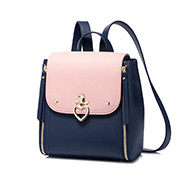 JUST STAR 2018 New Contrast Color Backpack Blue