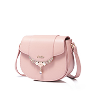 JUST STAR PU 2019 New Year Saddle Bag Pink