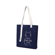 JUST STAR 2019 New Lovely Cat Cavans Bag Blue