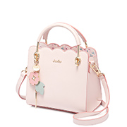 JUST STAR PU 2019 New Flower Women Handbag Pink