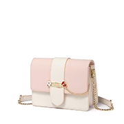 JUST STAR PU 2019 New Korea Style Shoulder Bag Pink