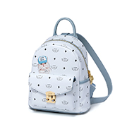 JUST STAR PU 2019 New Cute Printing Backpack Blue