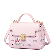 JUST STAR PU 2019 New Cute Printing Kelly Bag Pink